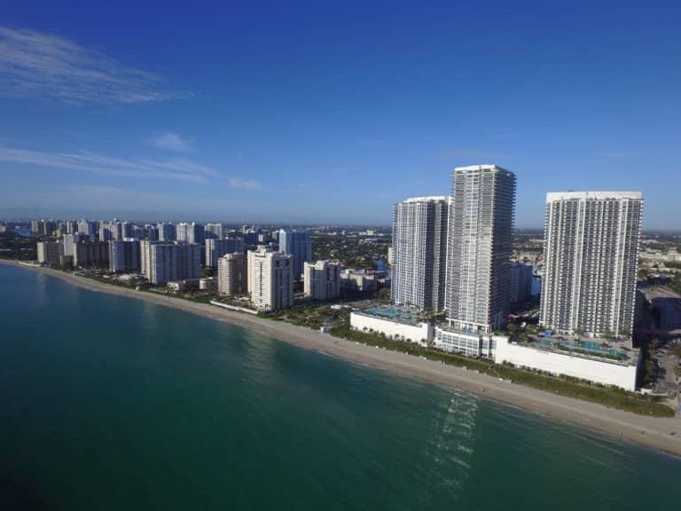 Hallandale Beach Florida aerial photo