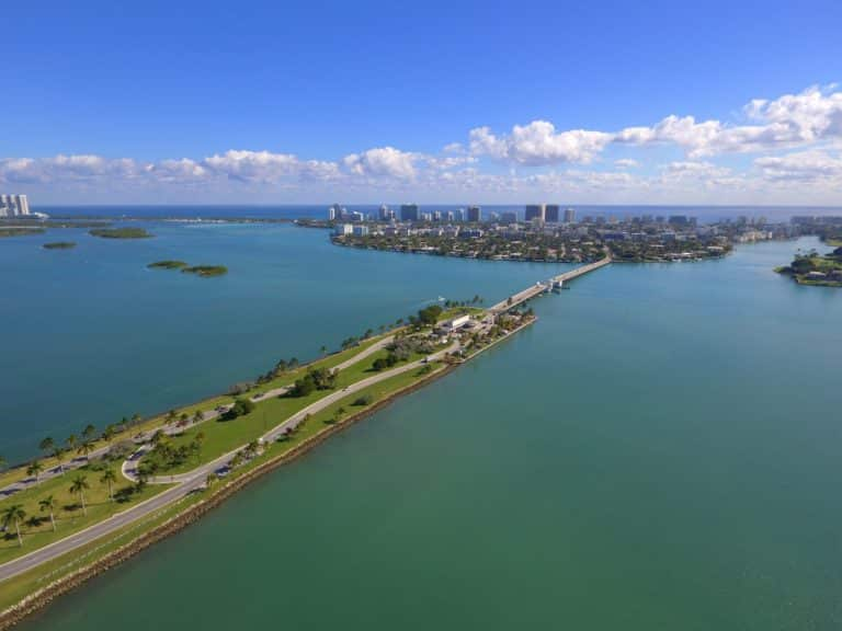 Aerial image of Broad Causeway Miami Beach