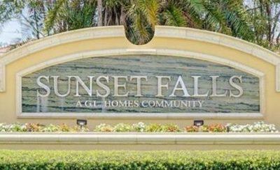 Sunset Falls logo